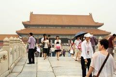 Bridge across Golden Water Canal in Forbidden City Stock Photo