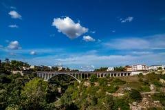 Bridge across gorge at Laterza, Italy stock image