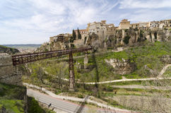 Bridge Across the Huecar Gorge to Cuenca Royalty Free Stock Images