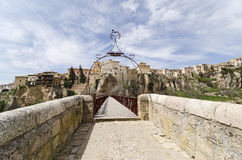 Bridge Across the Huecar Gorge to Cuenca Stock Photo