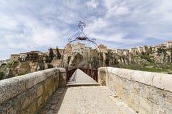 Bridge Across the Huecar Gorge to Cuenca Stock Photo