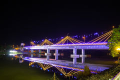 Bridge across the Mae Kok River Royalty Free Stock Photography