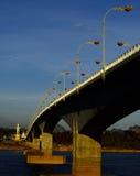 Bridge across Mekhong river. In Thai-Lao border Stock Photography
