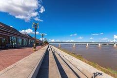 Bridge across the Mekong River. Thai-Lao friendship bridge, Thai Royalty Free Stock Photos