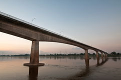 Bridge across the Mekong River Stock Images