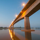 Bridge across the Mekong River Royalty Free Stock Images