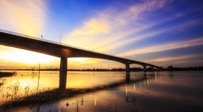 Bridge across the Mekong River Stock Photos