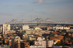 Bridge across the Mississippi River Stock Images