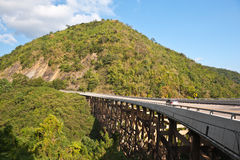 Bridge across moutain Stock Photos