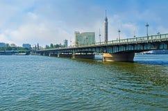The bridge across the Nile Royalty Free Stock Image