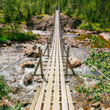 Bridge Across Norway Mountain River Stock Photography