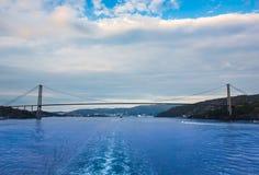 Bridge across the Norwegian Sea , Norway. Bridge across the Norwegian Sea , Bergen , Norway royalty free stock photos