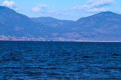 Bridge across Okanagan Lake Royalty Free Stock Photo