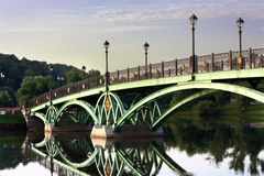 Bridge across the pond Royalty Free Stock Photography