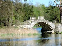 The bridge across the pond, Gatchina. Russia Royalty Free Stock Photography