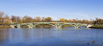 The bridge across the pond Royalty Free Stock Photo
