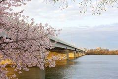 Bridge across the Potomac River in the morning, Washington DC, USA. Stock Photos