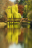 Bridge across the river. Royalty Free Stock Images