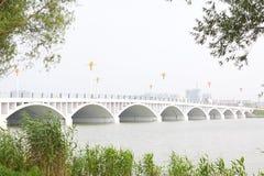 A bridge across the river Royalty Free Stock Photos