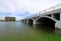 Bridge across the river Royalty Free Stock Photography