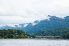 Bridge across the river. Stock Image