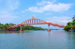 Bridge across river in Amritapuri,  India Royalty Free Stock Images