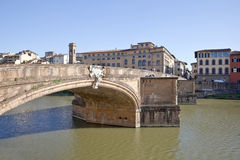 Bridge across the river Arno Royalty Free Stock Images