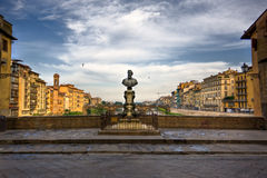 Bridge across River Arno in Florence Stock Photo