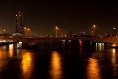 Bridge across the river. Royalty Free Stock Photography