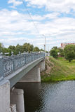 Bridge across the river, city Kolomna Royalty Free Stock Photos
