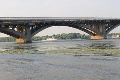 Bridge across river Dnieper in Kiev Stock Image