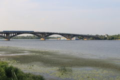 Bridge across river Dnieper in Kiev Stock Images