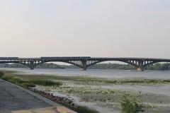 Bridge across river Dnieper in Kiev Stock Photography