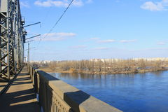 Bridge across river Dnieper Stock Photo