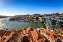 Bridge Across River Douro and Historic Porto Stock Image