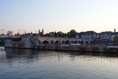 Bridge across river Maas in Maastricht , Netherlands, Europe Stock Photography