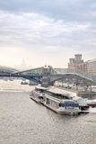 Bridge across the river Moscow Royalty Free Stock Photo