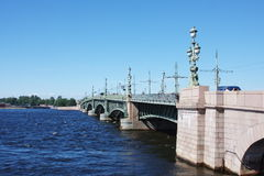 Bridge across the river Neva. City Saint Petersburg, Russia Stock Photography