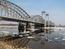 Bridge across the river Neva Royalty Free Stock Photos