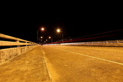 Bridge across the river at night Royalty Free Stock Image
