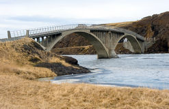 Bridge across river Stock Photo