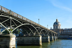 The bridge across the river in Paris. Royalty Free Stock Photos