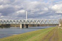 Bridge across the River Rhine 1 Stock Photo