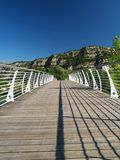 Bridge across river Sarca Stock Photos