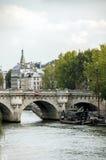 The Bridge across the River Seine. In Paris Royalty Free Stock Image
