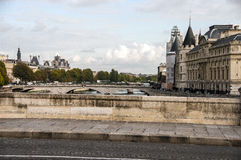 The Bridge across the River Seine. In Paris Royalty Free Stock Images