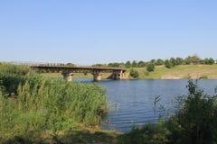 Bridge across river Royalty Free Stock Image