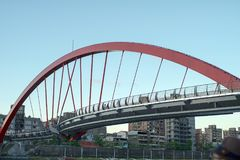 Bridge in Taipei Taiwan. Bridge across the river in Taipei Taiwan Stock Photography
