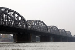 Bridge across the river, Vivekananda Setu Stock Photo