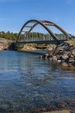 Bridge across the strait Royalty Free Stock Photos